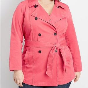 Maurice's plus size trench coat